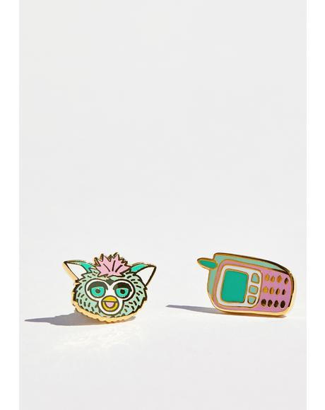 90's Cell & Furby Earrings
