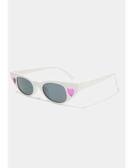 Arctic Retro Heart Sunglasses