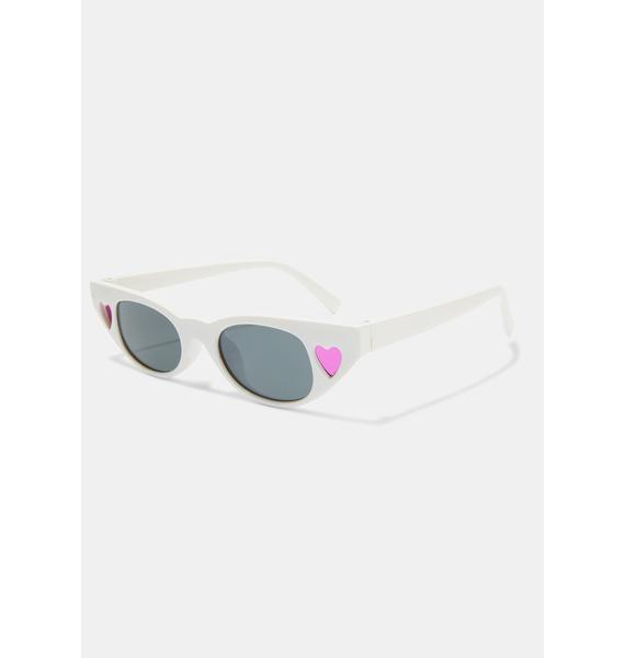 Arctic Retro Heart Sunglasses