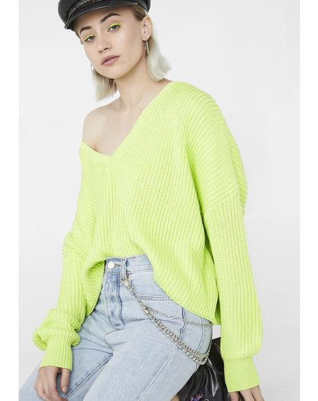 Nuclear Alternate Reality Knit Sweater