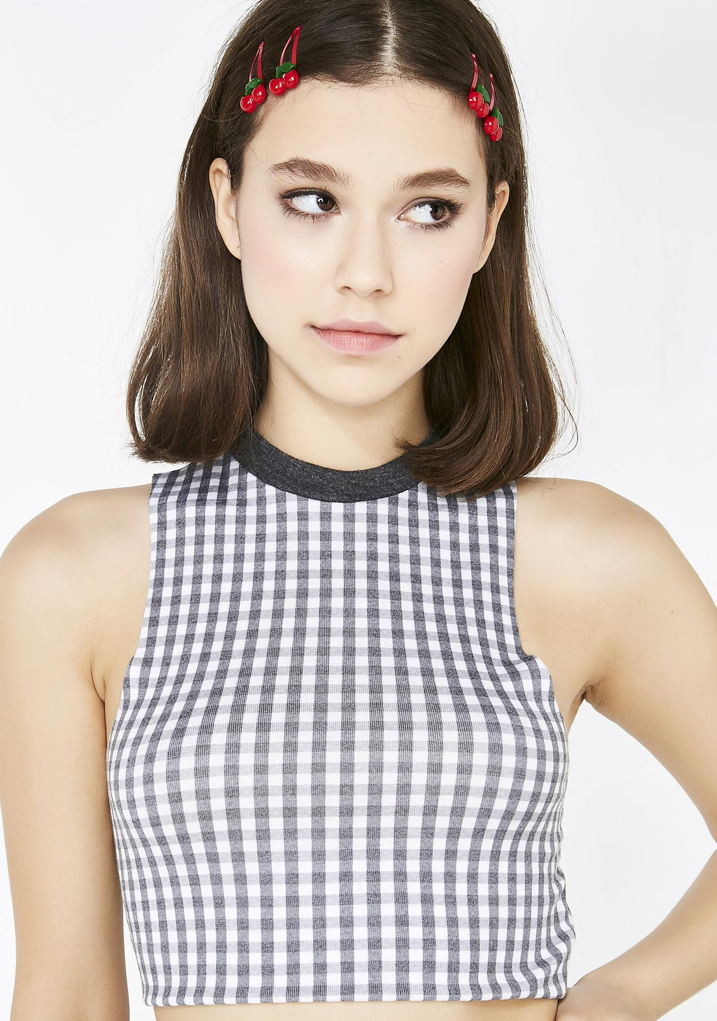 Wildfox Couture Gingham Fountain Crop