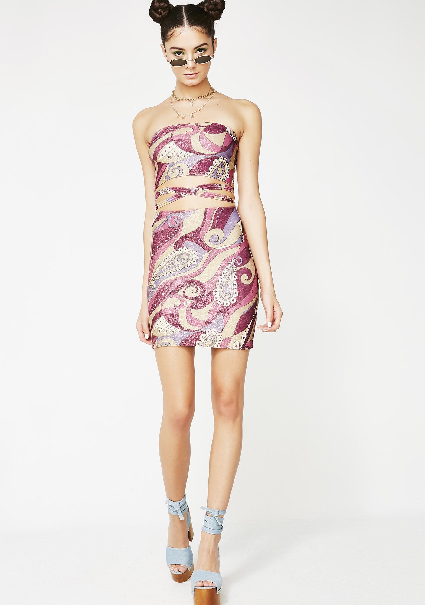 American Deadstock Sweet A La Mod Mini Skirt