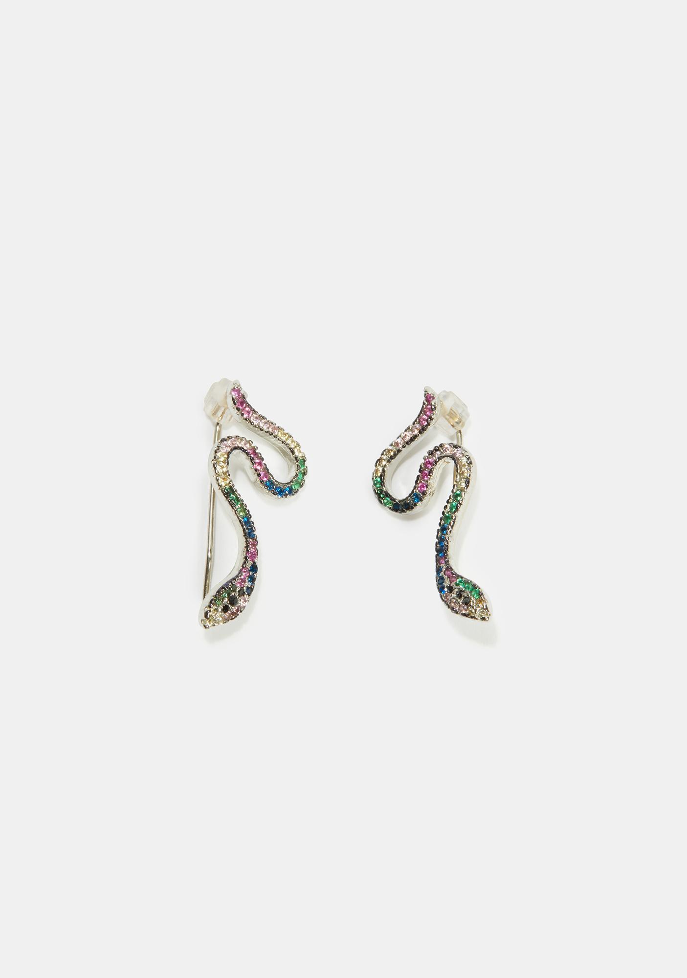 Vicious Cycle Rhinestone Earrings