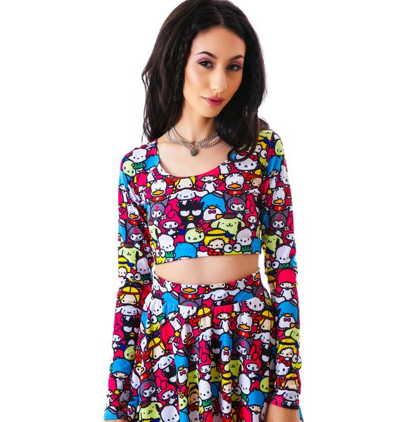 Japan L.A. Japan L.A. x Sanrio Friends Long Sleeve Crop Top