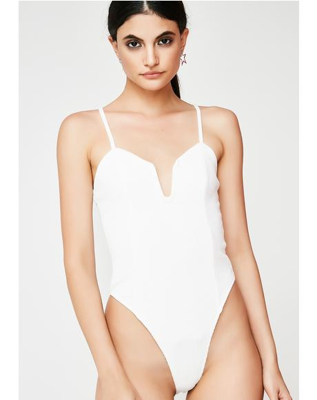 Can't Find Me Ribbed Bodysuit