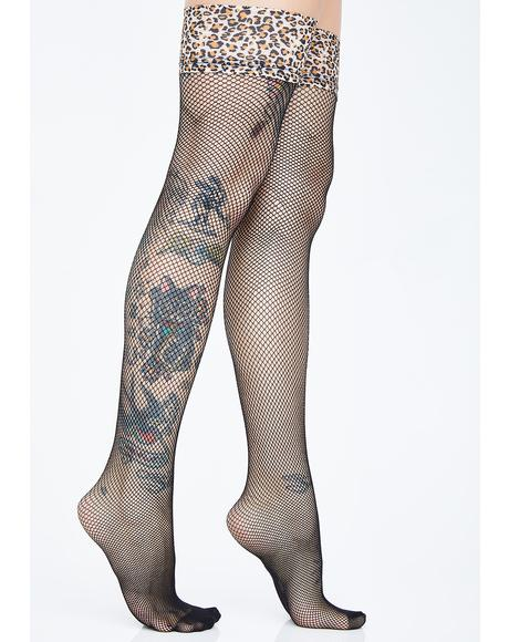 Wild Woman Fishnet Stockings