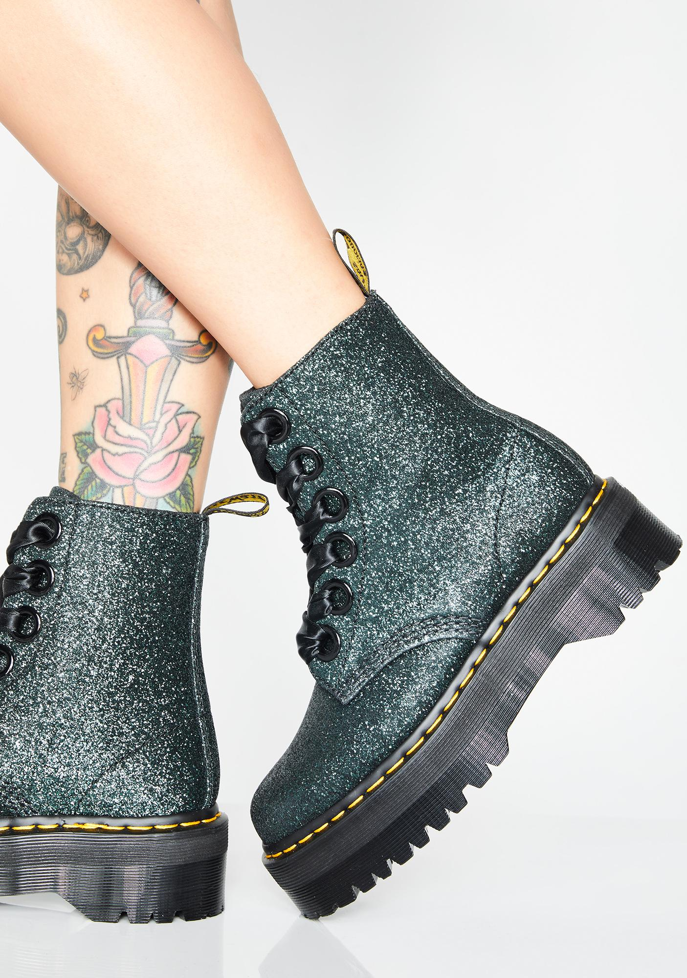 f1041f080eb9 Dr Martens Molly Black Glitter Platform Boots - Best Picture Of Boot ...