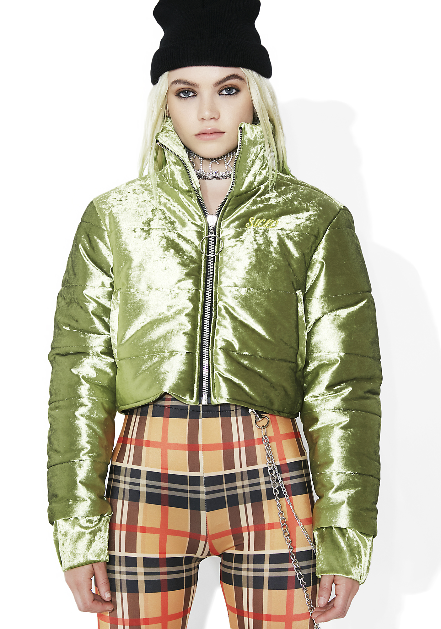 Sicko Cartel Block Girl Velvet Puffer Jacket