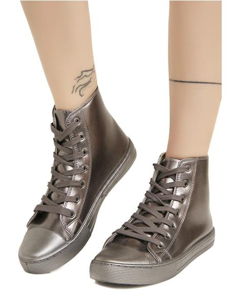 Metallic So Fresh Patent Sneakers