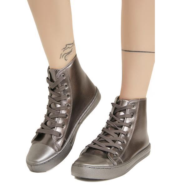 Metallic So Fresh Patent Sneakers