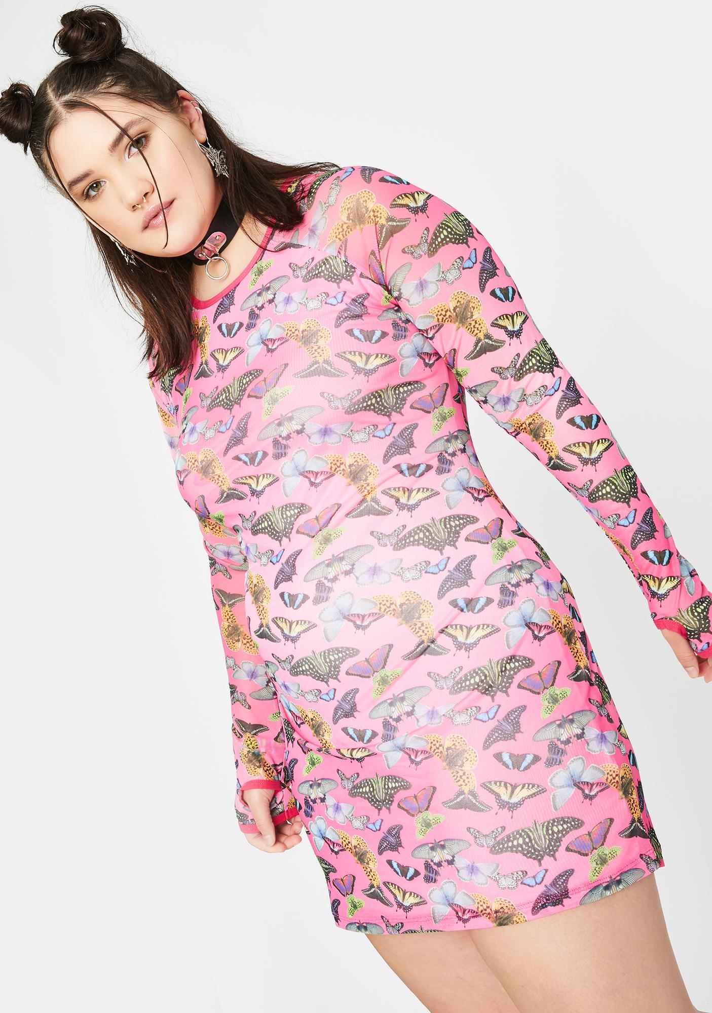 Club Exx True Lovebug Mesh Mini Dress
