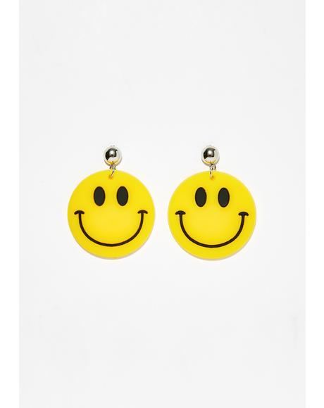 Happy Hour Smiley Earrings