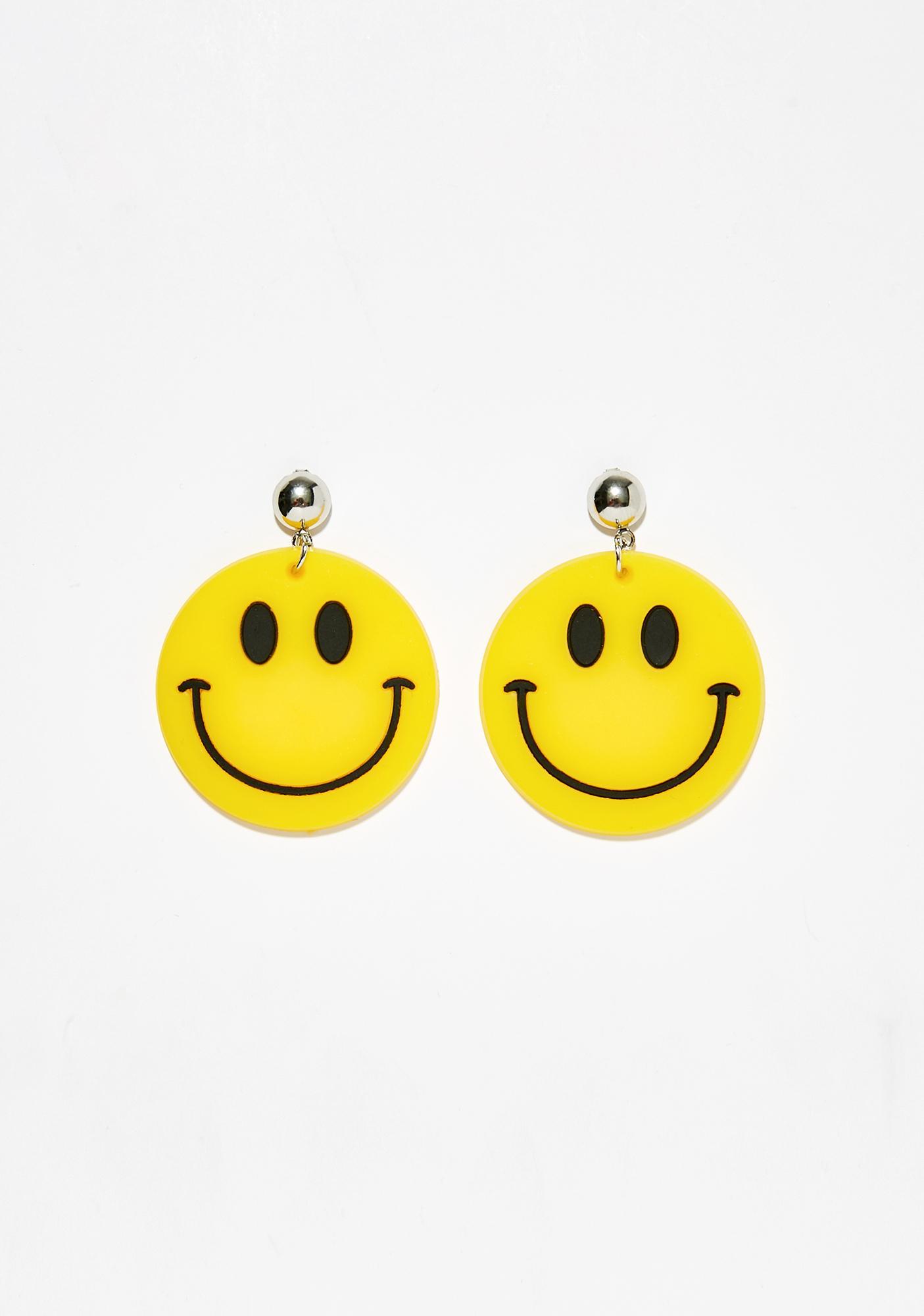 Happy Hour Smiley Earrings