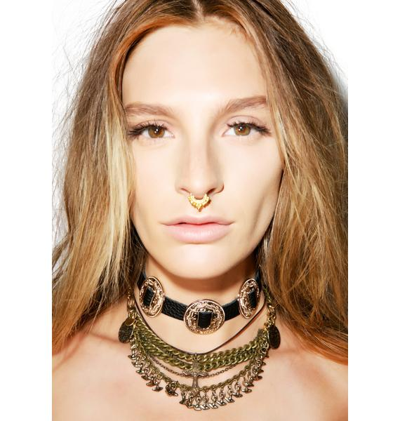 Vidakush Fancy Leather Concho Choker