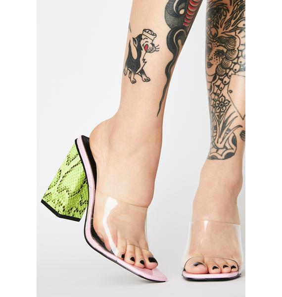 Public Desire Lilac Klaudia Block Heels
