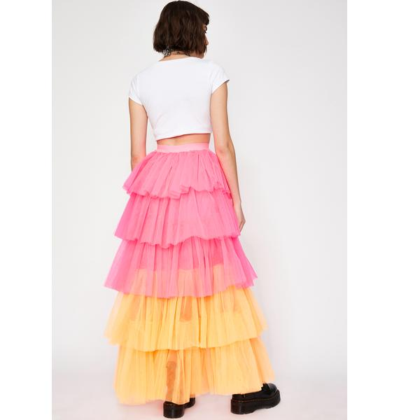 Belle Fluorescence Tulle Skirt