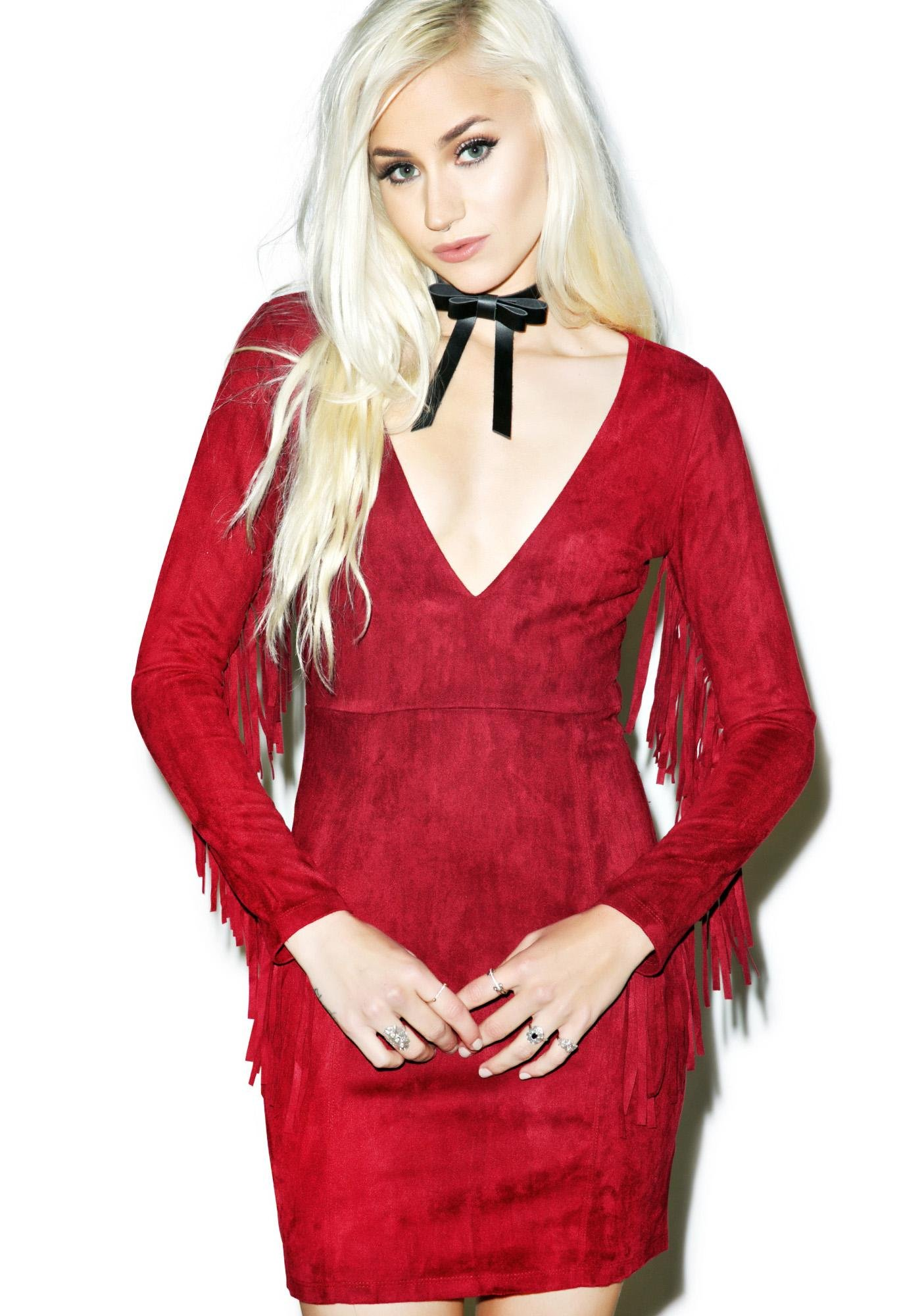 Red Rock Fringe Dress