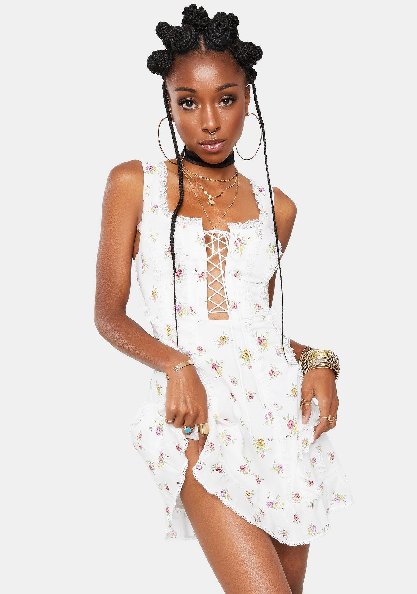 For Love & Lemons Wildflower Mini Dress