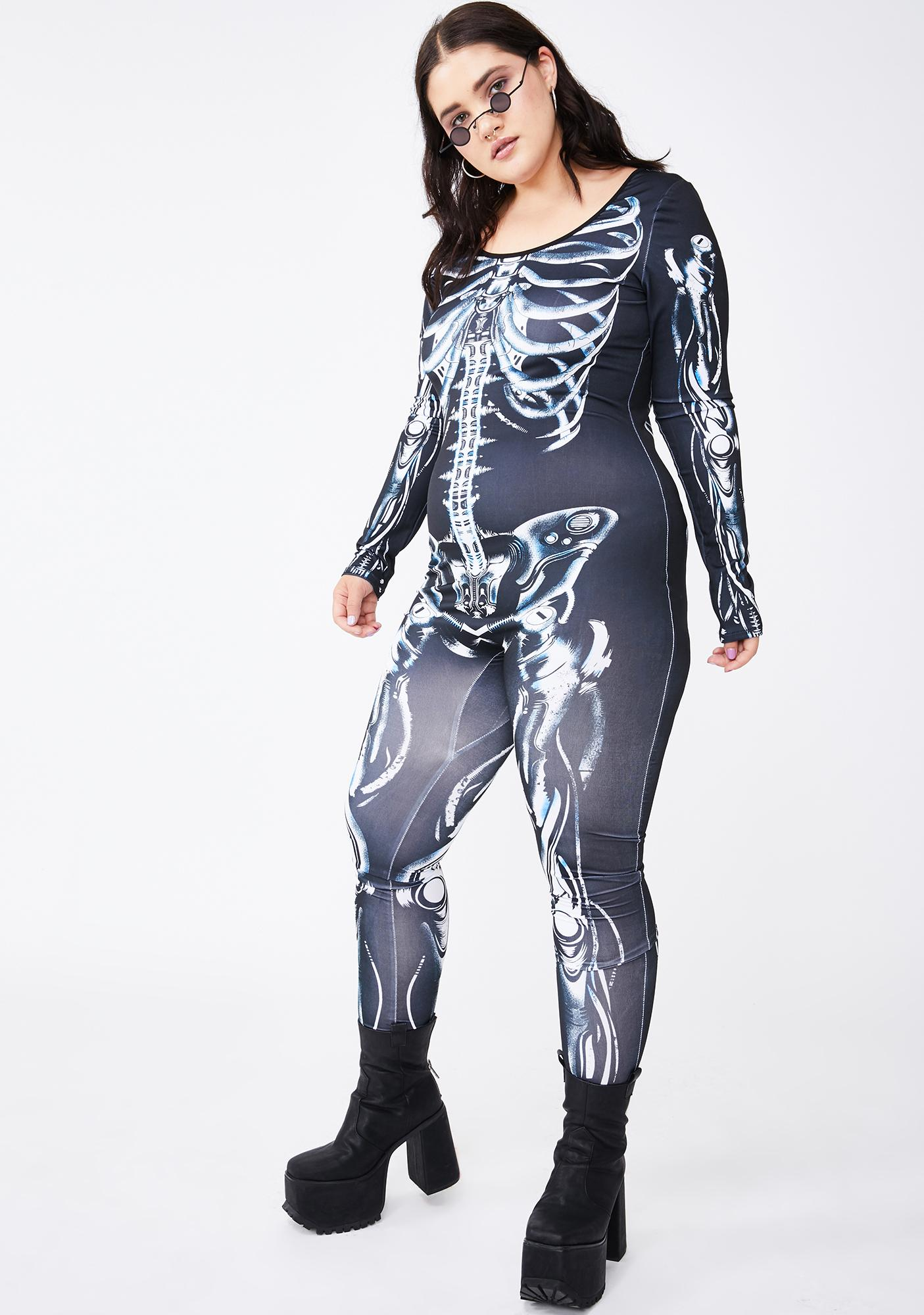 Queen Bionic Bonez Skeleton Catsuit
