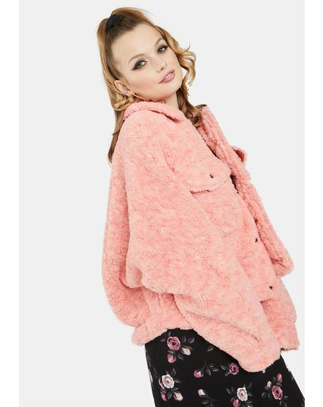 Melon Teddy Swing Jacket