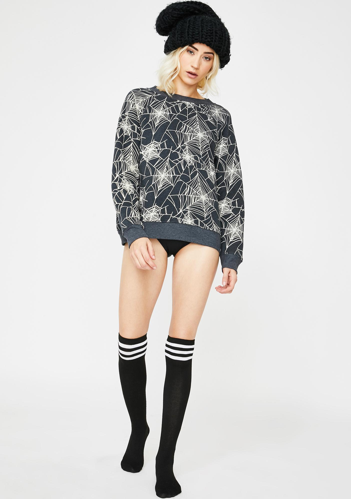 Wildfox Couture Black Widow Sommers Sweatshirt