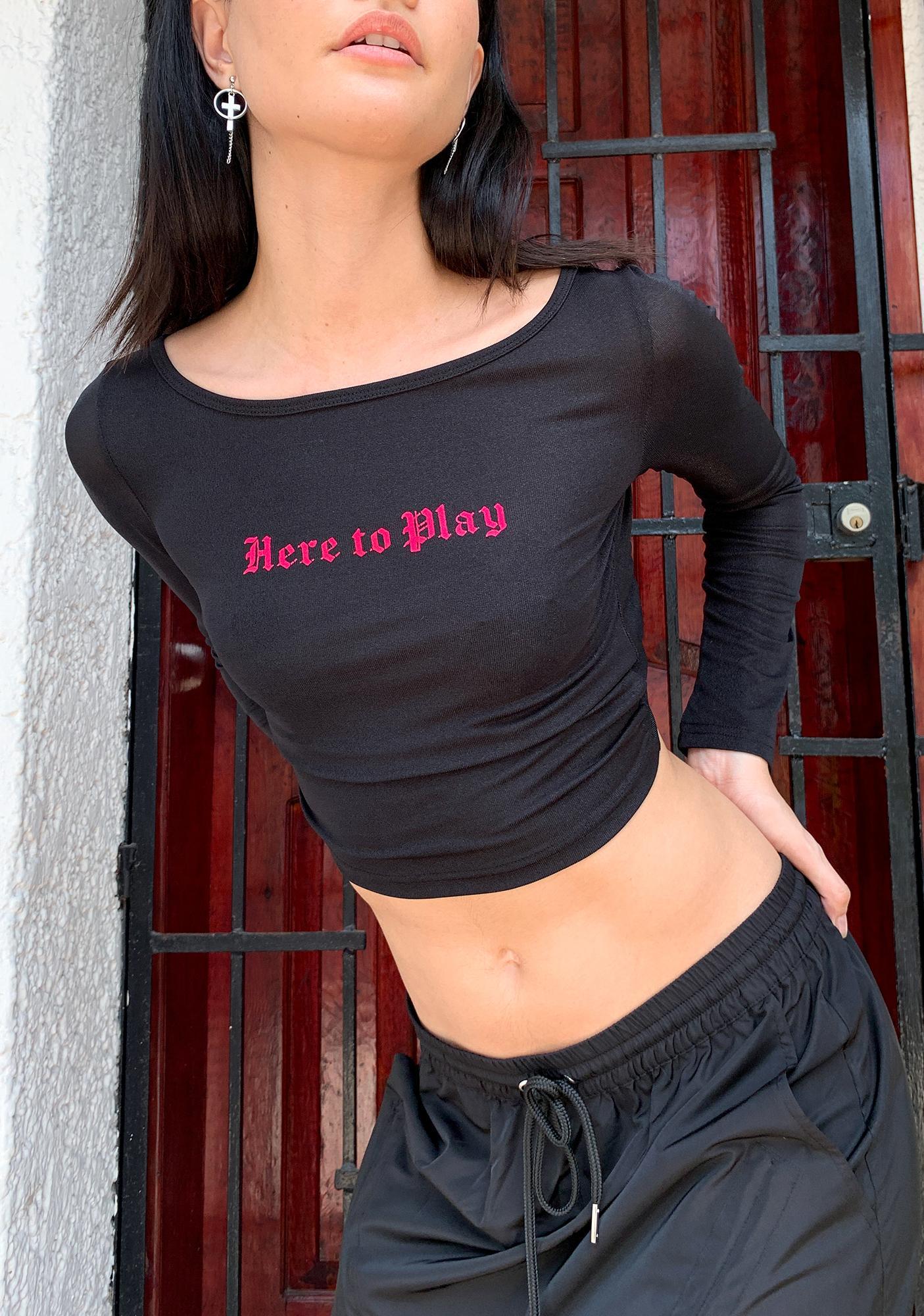 Poster Grl Playas 'Gon Play Crop Top