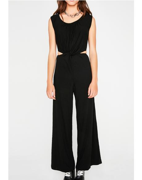 Just A Peek Cut-Out Jumpsuit