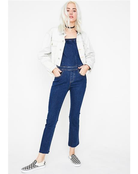 Simple Life Denim Jumpsuit