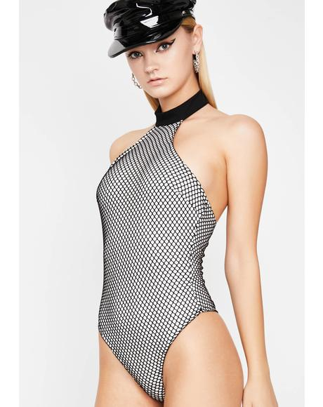 Night Breakin' Rulez Fishnet Bodysuit