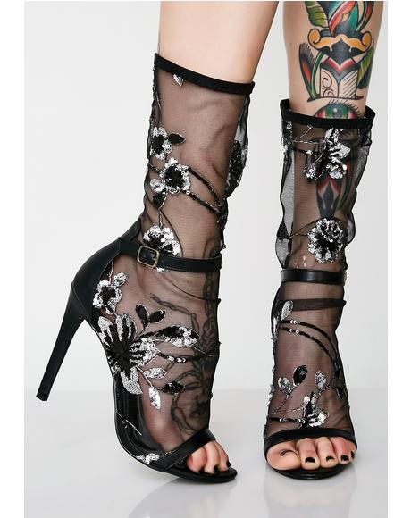 Garden Gal Sheer Stiletto Heels