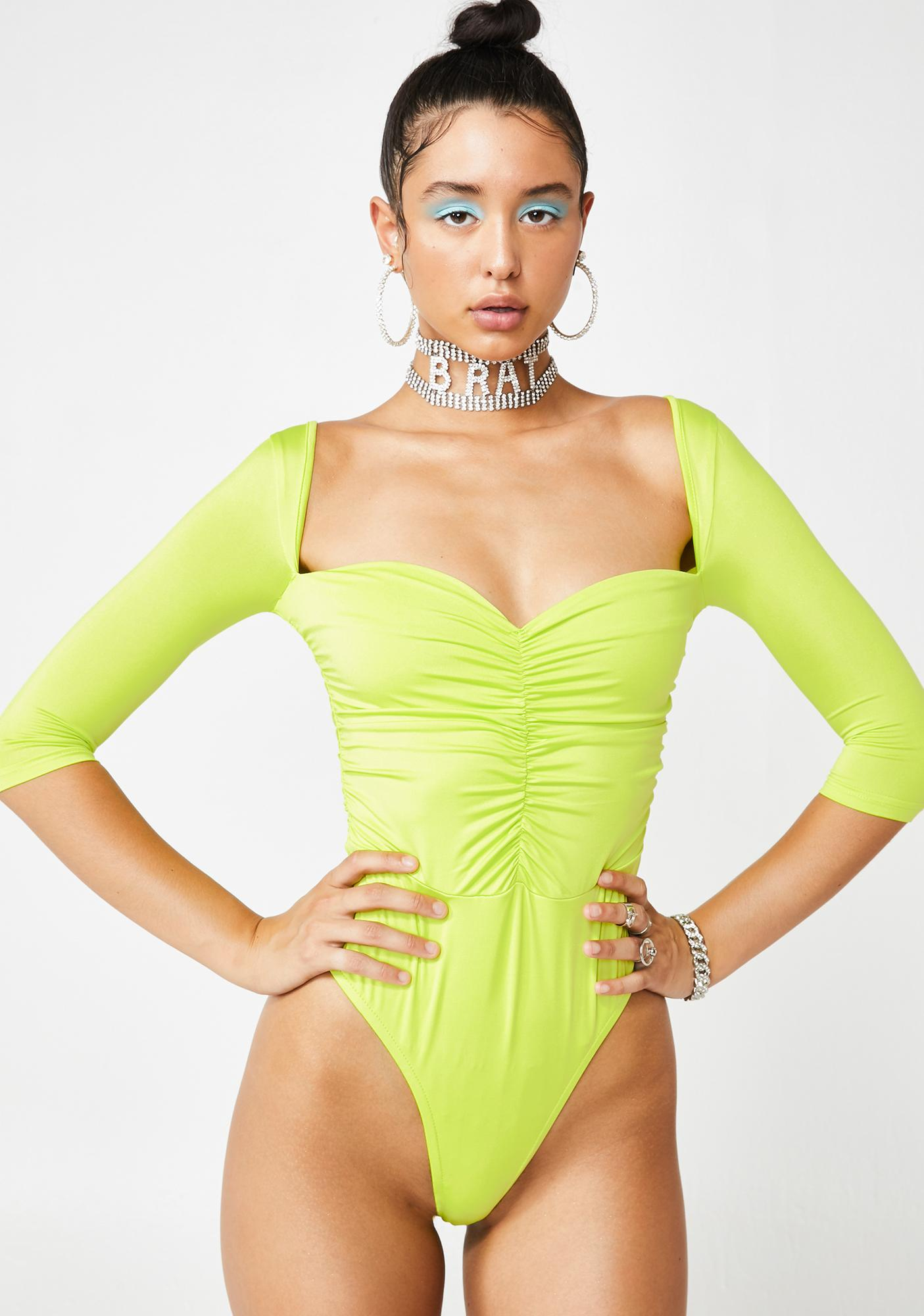 Don't At Me Ruched Bodysuit