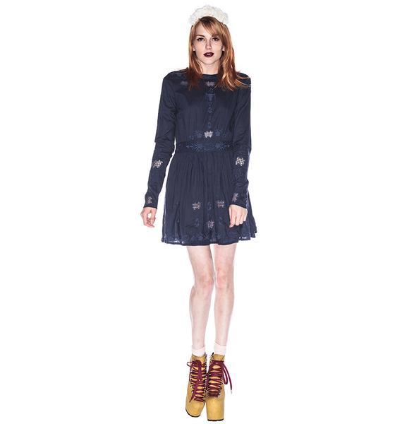 One Teaspoon Nirvana Long Sleeve Dress