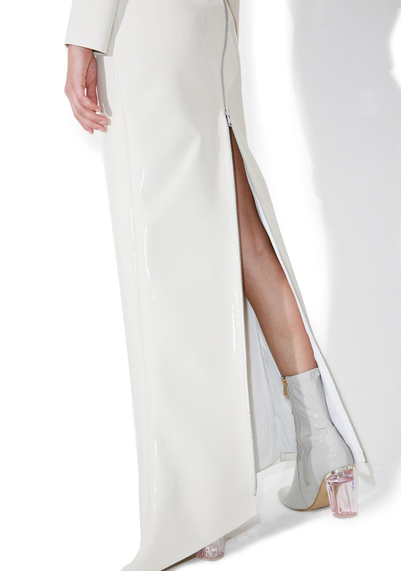 Maria ke Fisherman Creme PVC Dress