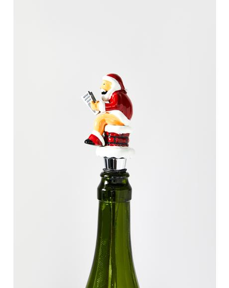 Santa Pooping Wine Stopper