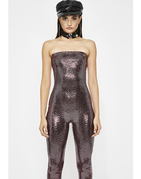 Eat Ya Heat Out Sequin Jumpsuit