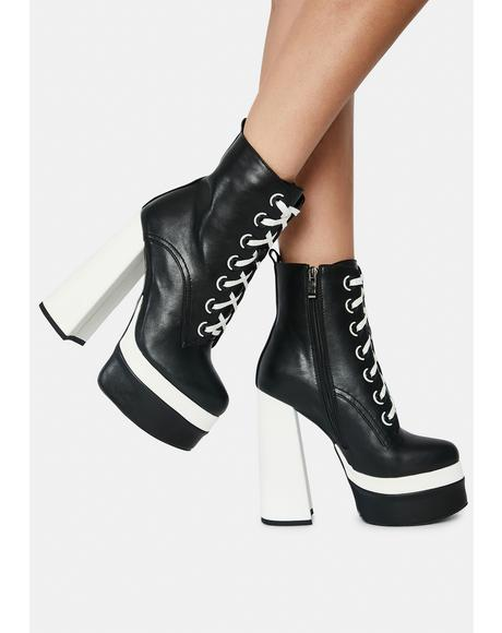 Dora Heeled Ankle Boots