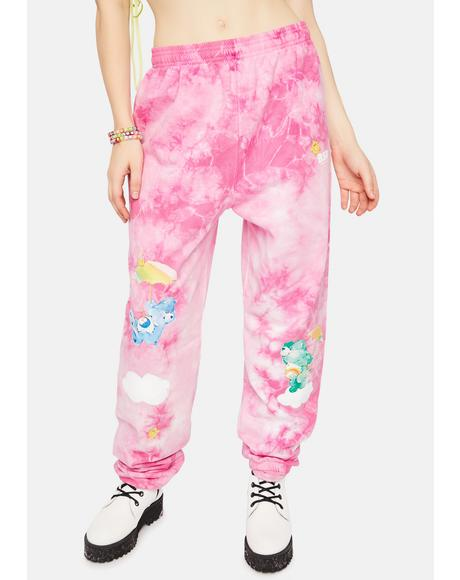 In The Clouds Bears Tie Dye Sweatpants