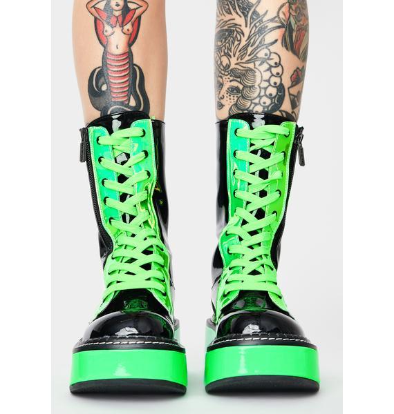 Demonia Slime Electric Fusion UV Platform Boots