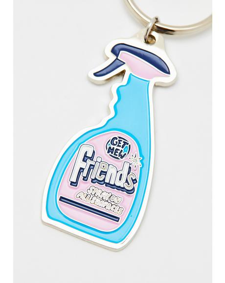 Friends Spray Keyring