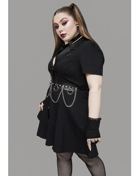 Got Strange Vices Belted Shirt Dress