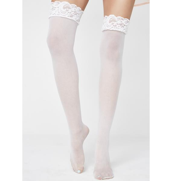 With Pleasure Lace Stockings