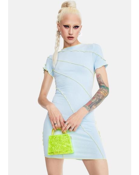 Sky Enter The Void Seamed Mini Dress
