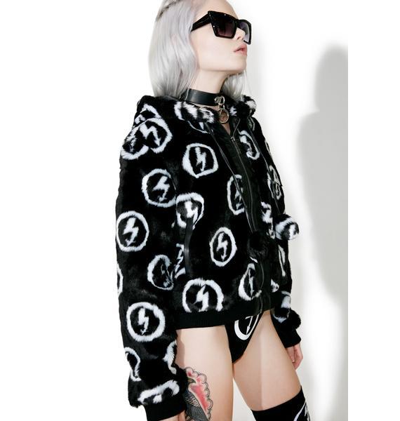 Killstar Faux Fuck 90's Fur Jacket