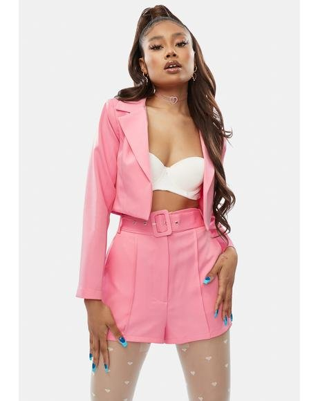 Blush It's Who You Know Shorts Set