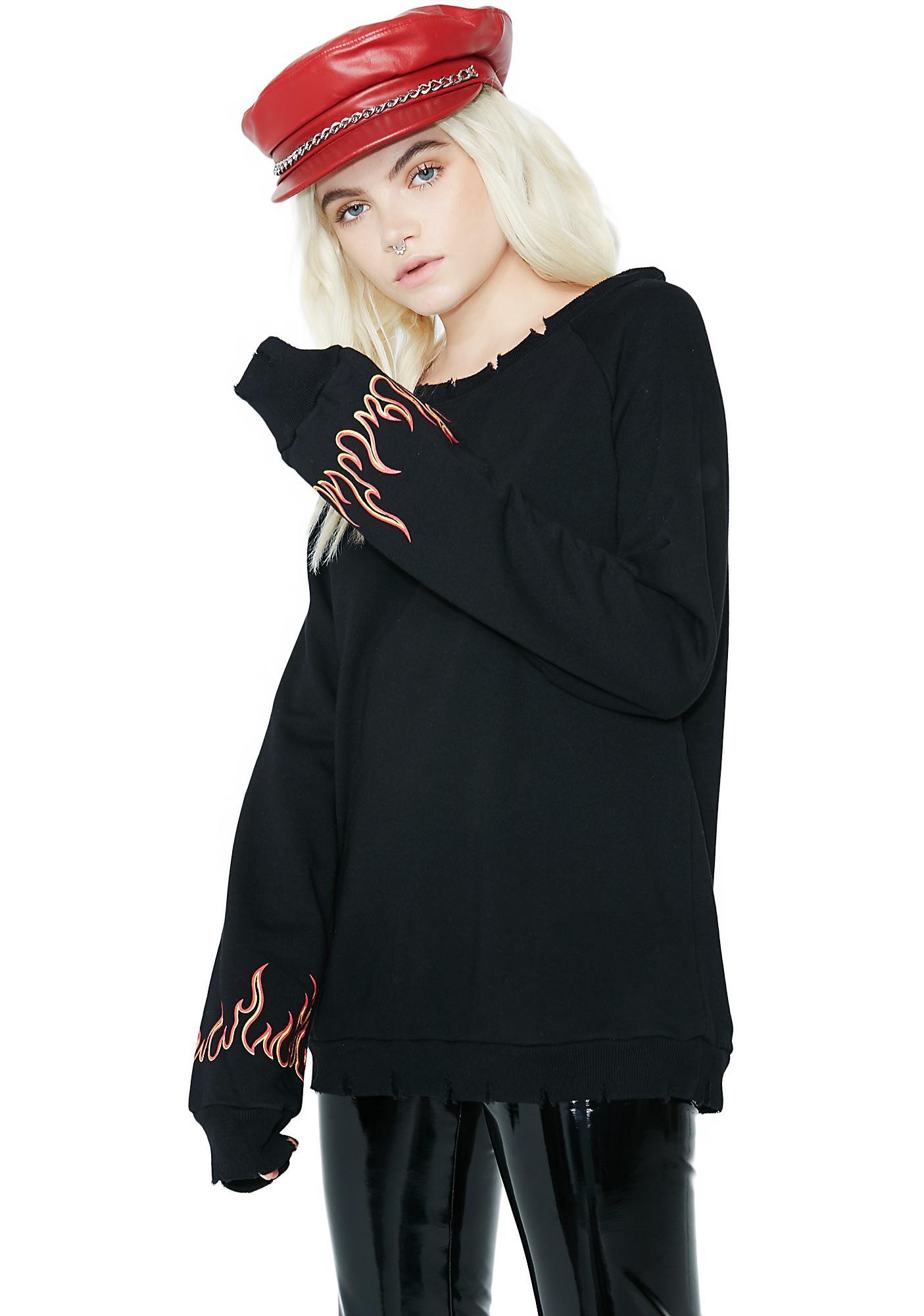 Body Heat Flame Sweatshirt