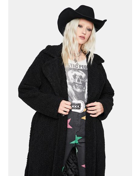 Hibernation Mode Teddy Trench Coat