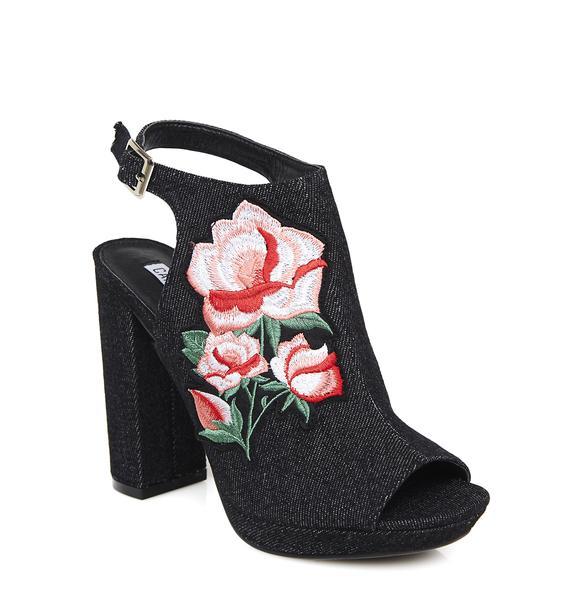 Fairest Fable Embroidered Platform Heels