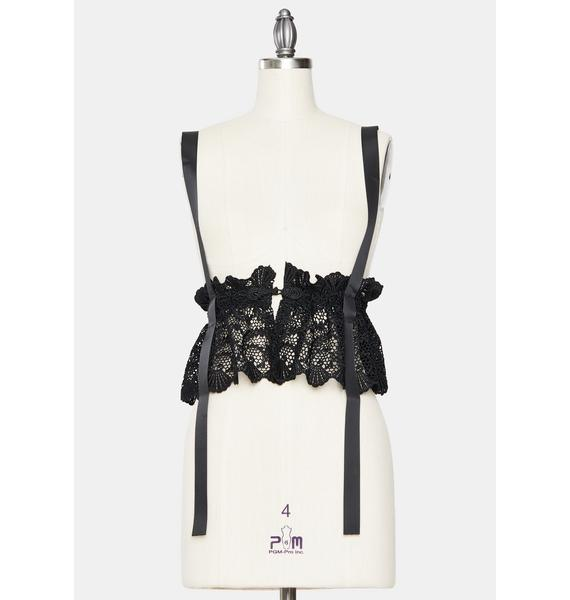 Dark Definitely Darling Lace Harness Waist Belt