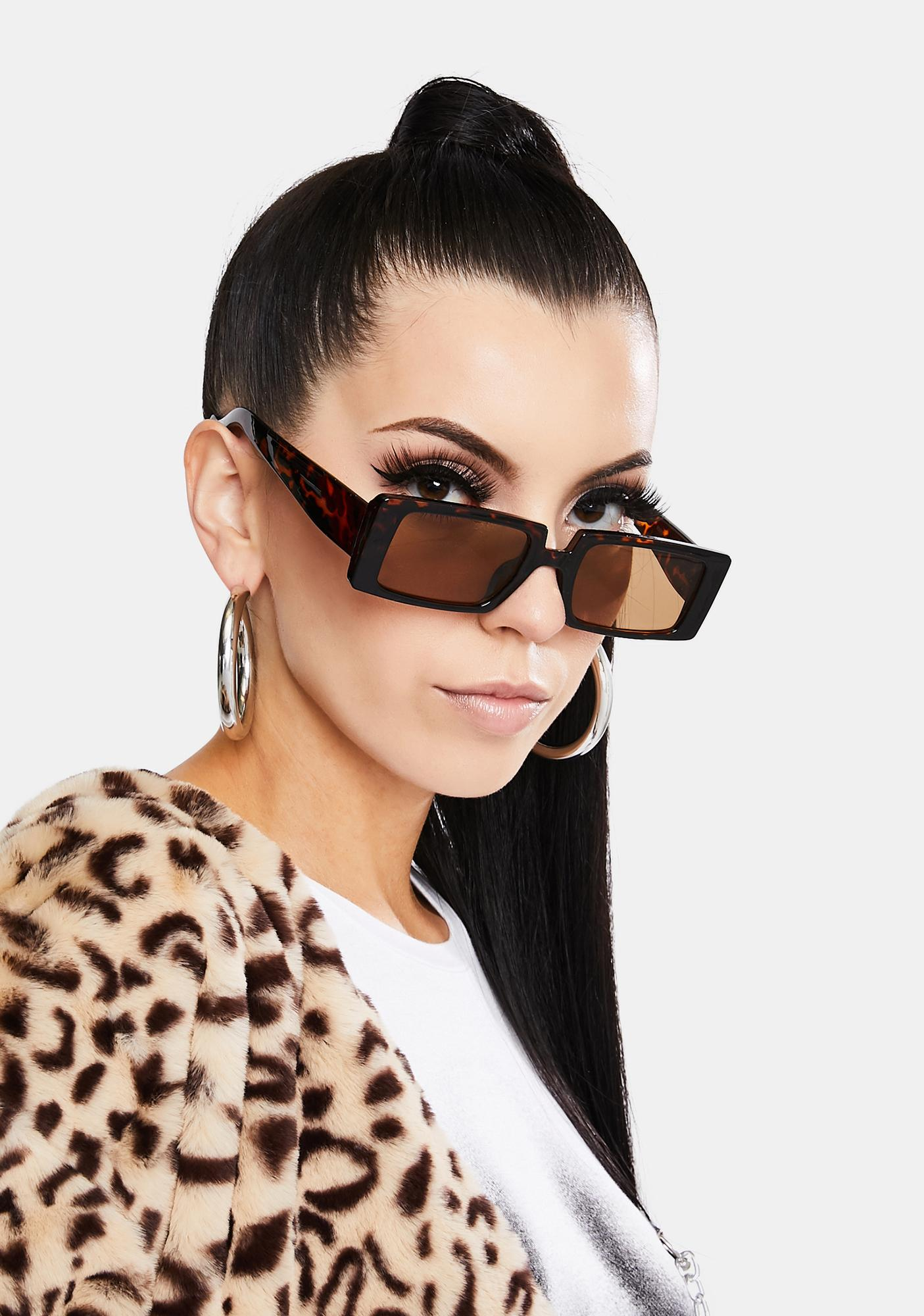 Straight To Business Rectangle Sunglasses