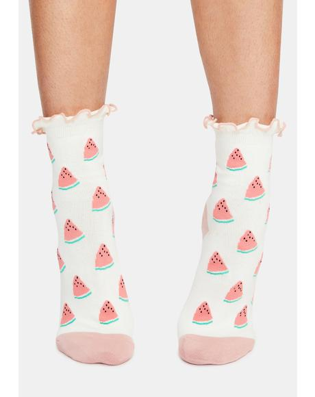 I'm So Sweet Watermelon Socks